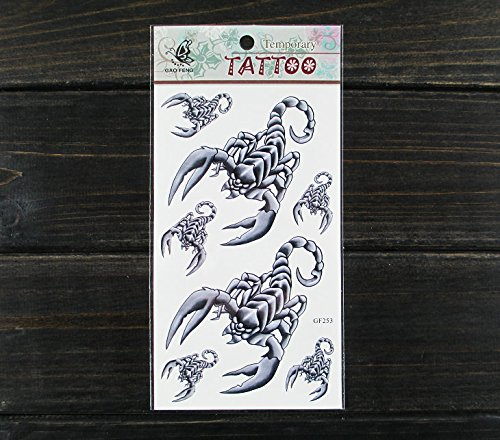 SYZ Beauty Waterproof Temporary Tattoos Scorpion Tattoos