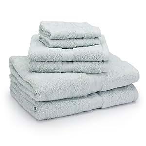 Laura Ashley 6-Piece Cotton Towel Set, Duck Egg