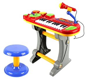 lil dj sound synthesizer children 39 s musical instrument toy keyboard play set 24 key. Black Bedroom Furniture Sets. Home Design Ideas