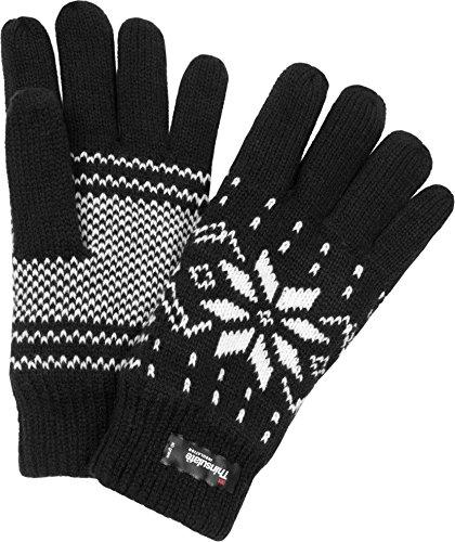 thermo-strick-handschuhe-mit-thinsulate-futter-unisex-erwachsene-mit-norweger-motiv-farbe-schwarz