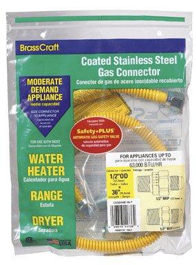 "Brasscraft Cssd44E-36P Gas Appliance Connectors, 36"""