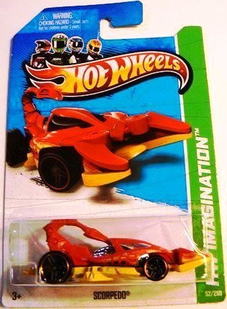 Hot Wheels Hw Imagination Scorpedo 2013 Yellow and Red 52/250 - 1