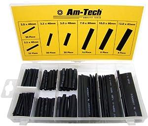 Am-Tech Lot de 127 gaines en plastique thermorétractable