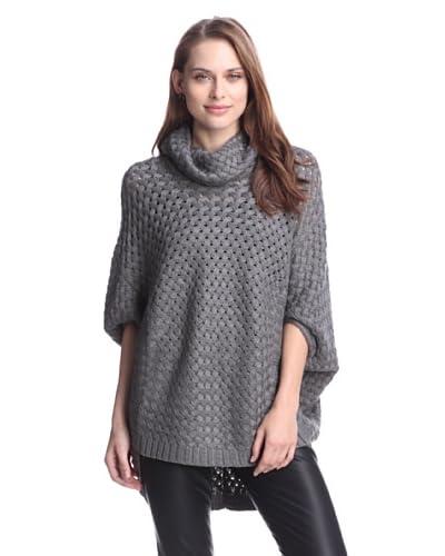 Cliché Women's Basketweave Sweater  [Grey]