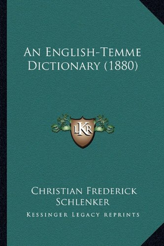 An English-Temme Dictionary (1880)