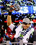 "Russell Wilson Seattle Seahawks 2014 Super Bowl XLVIII Trophy Photo #2 (Size: 8"" x 10"") at Amazon.com"
