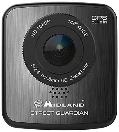 Midland C117401 Caméra de voiture avec GPS (Ecran: 2 pouces) Noir
