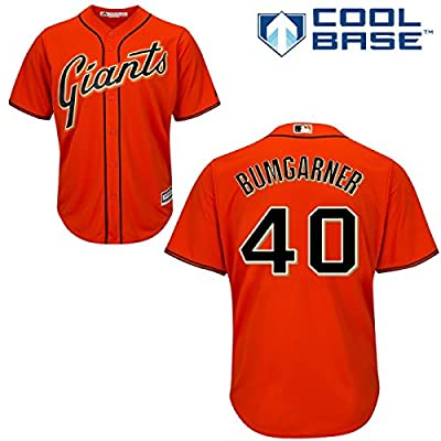 Madison Bumgarner San Francisco Giants #40 MLB Men's Cool Base Alternate Jersey Orange