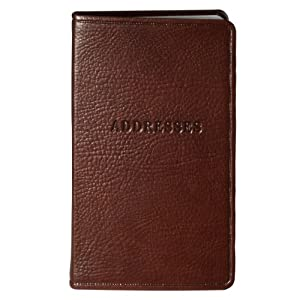 POST Pocket Address Book, Rustico Brown