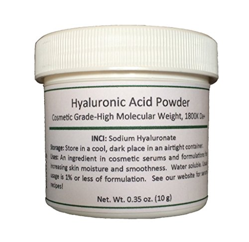 Pure Hyaluronic Acid Serum Powder (High Molecular Weight Sodium Hyaluronate). Popular Ingredient For Homemade Serums & Other Skin Care Products. 10 grams