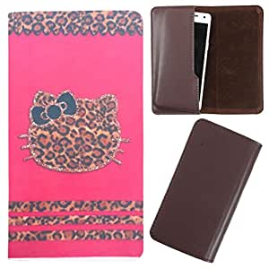 DooDa - For Karbonn A8 Star PU Leather Designer Fashionable Fancy Case Cover Pouch With Smooth Inner Velvet