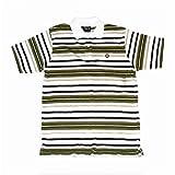 Southpole - Kids Boys (L) 16-18 Olive Green Striped Polo Shirt