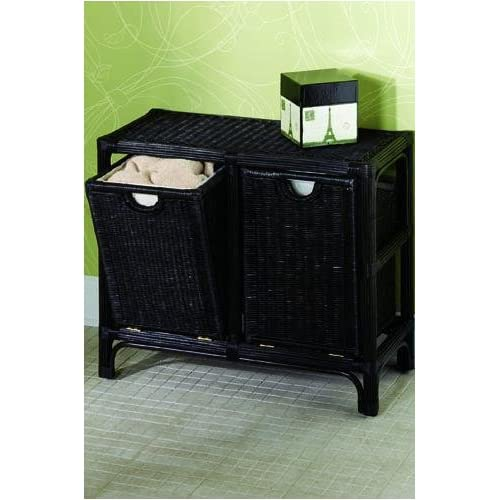 Tilt out hamper double mahogany laundry hampers - Tilt laundry hamper ...