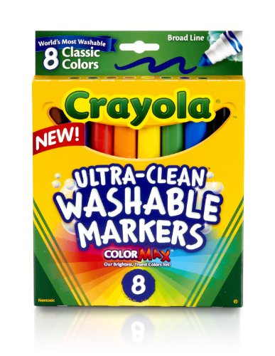 Crayola Broad Line Ultraclean Washable Classic Markers (8 Count) front-1024853
