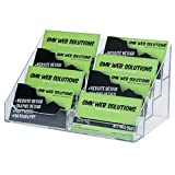 Marketing Holders Four Tiered Clear Acrylic Eight pocket Business Card Holders