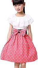 Soly Tech Baby Girls Princess Party Bowknot Belt Cotton Dots Formal Dress
