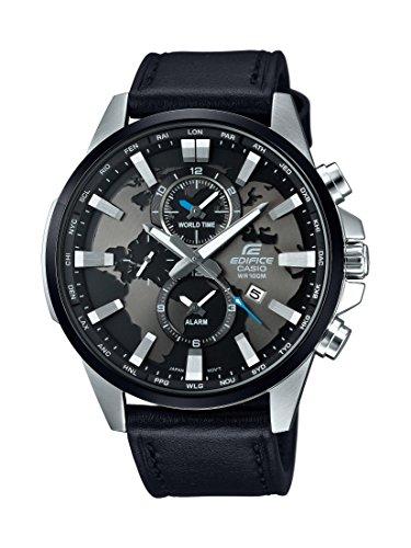Casio Herren-Armbanduhr Edifice Analog Quarz Leder EFR-303L-1AVUEF