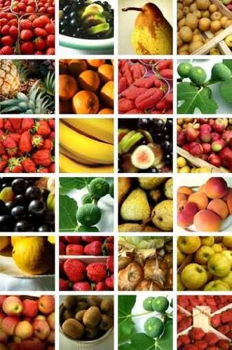 Food Wall Decals Fruits - 36 Inches X 24 Inches - Peel And Stick Removable Graphic
