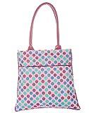 Jute Cottage Polka Dot Pom Pom Lace Hand-held Bag
