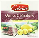 Celmar Quince and Mirabelle (Pack of 5, Total 100 Pyramid Tea Bags)