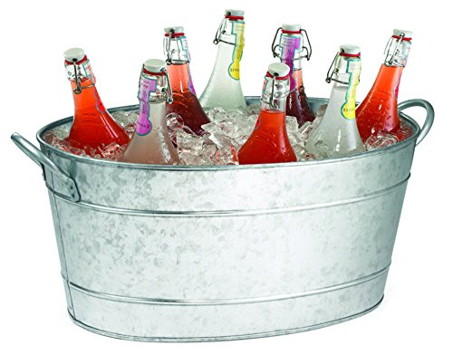 TableCraft Galvanized Beverage Tub, 5.5 Gallon 0