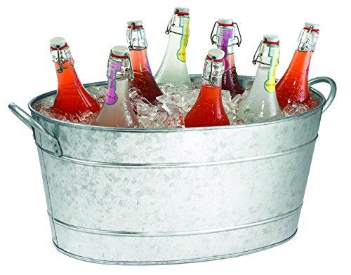 TableCraft Galvanized Beverage Tub, 5.5 Gallon 0
