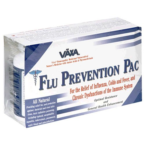 Vaxa Homeopathic Medicinal Nutraceutical Flu Prevention Pac, 180 Capsules