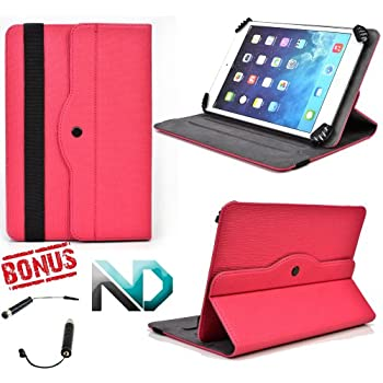 Tablet Case - Stand - Compatible with Amazon Kindle Touch *Magenta / Hot Pink* - 360 Rotating Case and Bonus NextDia Mini Stylus discount price 2015