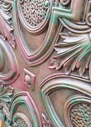 PL11imitation peint à la main âge Antique plafond Panneaux muraux décoration carrelage 3D en relief Cafe Pub Shop Art 10pieces/Lot
