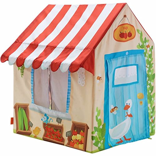 HABA-Grocery-Shop-Play-Tent-with-Awning-2-Windows-and-Roll-Up-Door