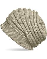 CASPAR - Bonnet hiver pour femme - Beanie en tricot côtelé - plusieurs coloris - MU081