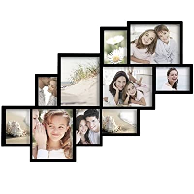 Adeco 10 opening decorative wood wall hanging for Modern collage frame