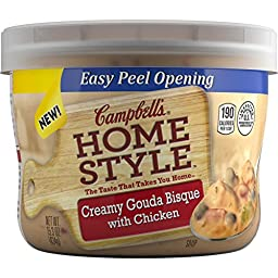Campbell\'s Homestyle Soup, Creamy Gouda Bisque with Chicken, 15.3 Ounce (Pack of 8)