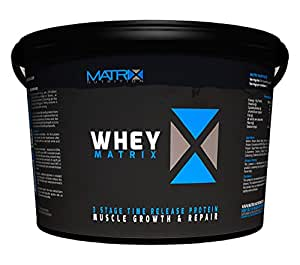 Matrix Whey Protein Powder 2.25kg is a flexible product which is ideally suited for those looking for a cost-effective supplement to use in conjunction with a training programme aimed at increasing weight and muscle mass. (Chocolate)