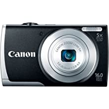 Canon PowerShot A2600 IS 16MP Point-and-Shoot Digital Camera (Black) with 4GB SDHC Card, Camera Case