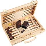 Backgammon Set - 11 Inch - Oak Travel