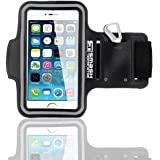 AllThingsAccessory® Adjustable Neoprene Sports Running Jogging Gym Armband Arm Band Case Cover Holder For Apple iPhone 6 5 5S 5C 4S 4 (As Seen in Stuff Magazine - 5 Stars)