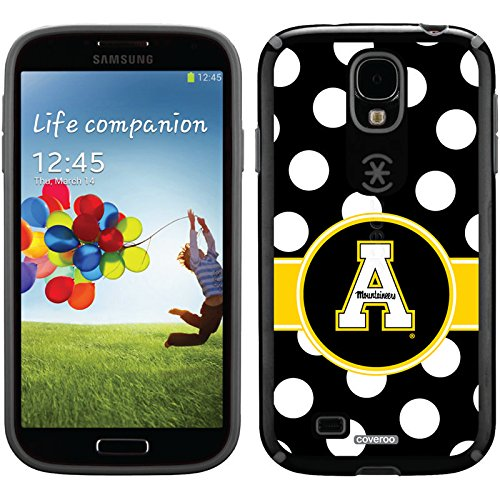 Appalachian State Polka Dots Design On A Black Samsung Galaxy S4 Candyshell Case By Speck