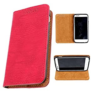 i-KitPit PU Leather Flip Case For Micromax Bolt A34 (RED)
