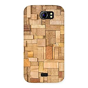 Ajay Enterprises Real Wood Blocks Pattern Back Case Cover for Micromax Canvas 2 A110