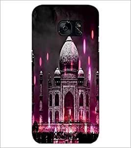 PrintDhaba Taj-Mahel D-3865 Back Case Cover for SAMSUNG GALAXY S7 (Multi-Coloured)