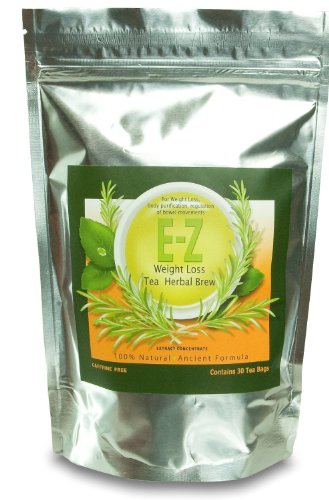 Easy E Z Herbal Weight Loss Tea Natural Weight Loss Body Cleanse and Appetite Control Proven Weight Loss Formula 30 Count Tea Bags