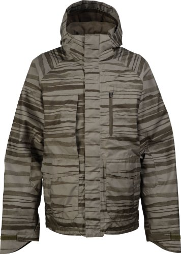 Burton Slub Snowboard Jacket Trnch Green Seepage Mens Sz S