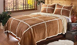 Outback Imitation Shearling Bedding Set, KING