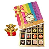 Chocholik Belgium Chocolates - Impressive Collection Of Chocolates And Truffle Gift Box With Small Ganesha Idol...