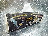 ルーニーテューンズ ロードランナーのティッシュカバー(ブラック) ★ティッシュボックス ティッシュケース ティッシュ お洒落