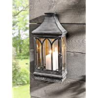 Wall Mount Mirror Candle Lantern, Clear Glass Product SKU: CL229360