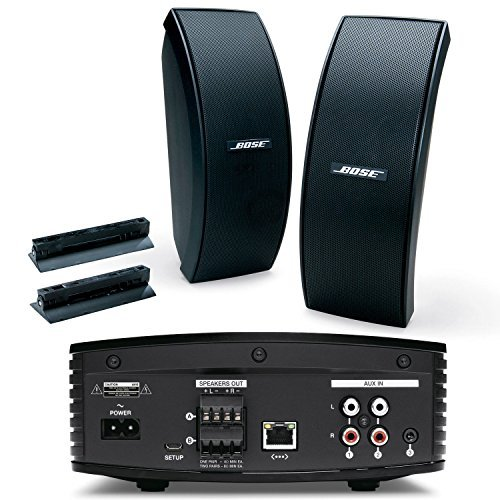 Bose SoundTouch SA-5 Bluetooth & WiFi Enabled Amplifier w/ 151 SE Outdoor Speaker System (Pair) Black (Outdoor Speakers Bose compare prices)