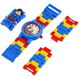 Lego DC Universe Super Heroes Superman Minifigure Link Children's Quartz Watch with Multicolour Dial Analogue Display and Multicolour Plastic Bracelet 9005619