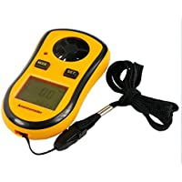 RZ Mini Digital LCD Wind Speed Scale Gauge Meter Anemometer Thermometer 0 30 M S Yellow